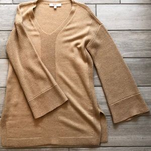 Camel colored Loft sweater tunic